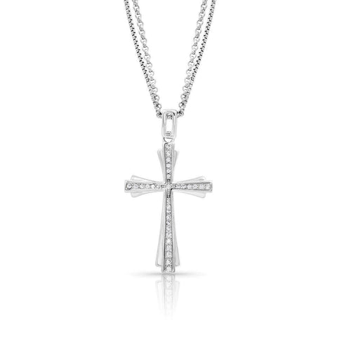 Montana Silversmiths Faith in Starlight Cross Necklace NC4303