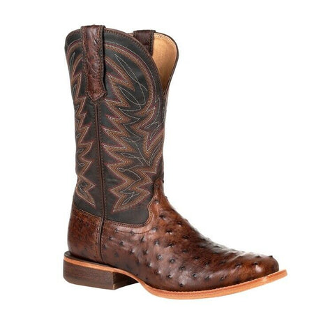 Durango Men's Antiqued Saddle Full-Quill Ostrich Boots DDB0274