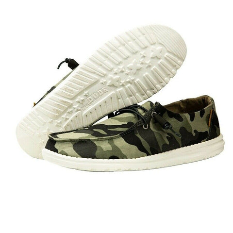 Hey Dude Ladies Wendy Camo Shoes 121417003