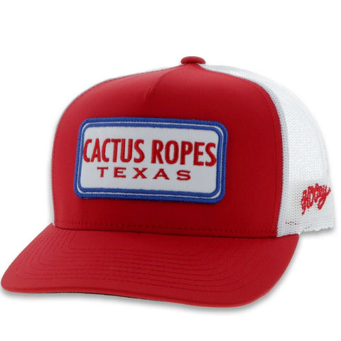 Hooey Children's Cactus Ropes Red & White Trucker Hat CR055-Y
