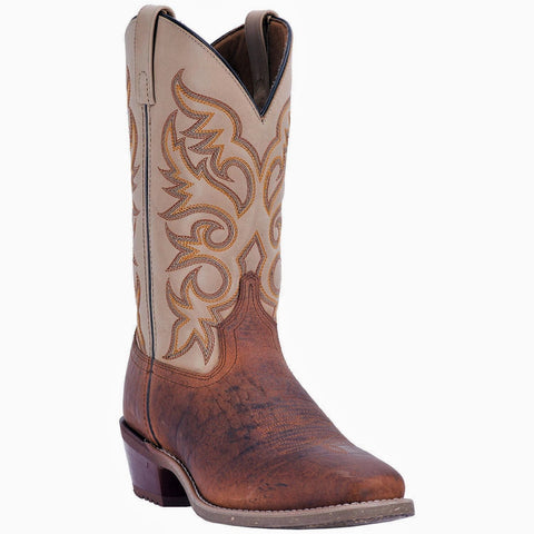 Laredo Men's Barn Stormer Rust Square Toe Boots 68341 - Wild West Boot Store