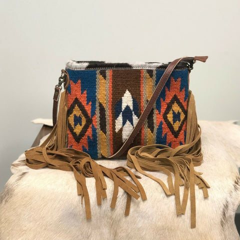 American Darling Brown Aztec Saddle Blanket Crossbody ADBG236DAR4