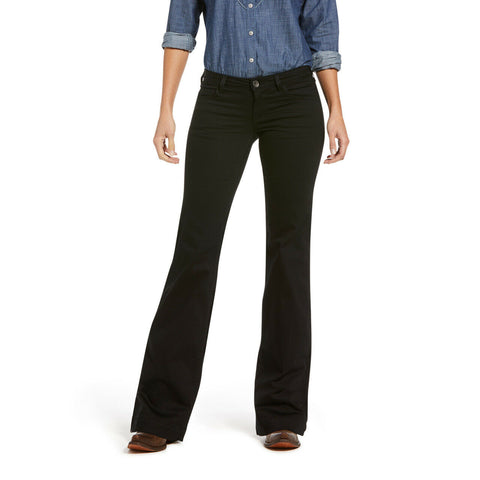 Ariat Ladies Trouser Forever Black Mid Rise Jeans 10033566