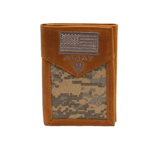 Ariat Men's Digital Camo patriotic Tri-Fold Wallet A3536628