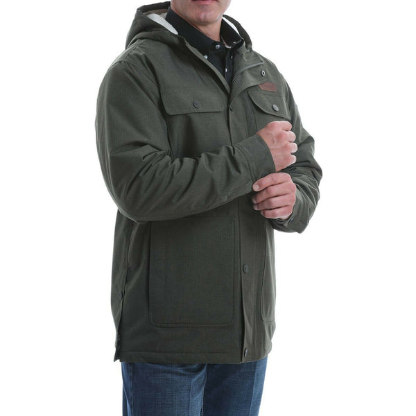 Cinch Men's Polyester Herringbone Sherpa Lined Barn Jacket MWJ1527001