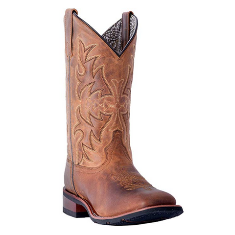 Laredo Ladies Brown Anita Cowgirl Square Toe Boots 5602
