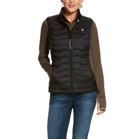 Ariat® Ladies Black Ideal 3.0 Down Insulated Quilted Vest 10028341