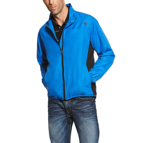 Ariat® Men's Olympian Blue Ideal Windbreaker Jacket 10019141 - Wild West Boot Store