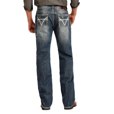 Rock & Roll Denim Men's Double Barrel Straight Jeans M0S1612