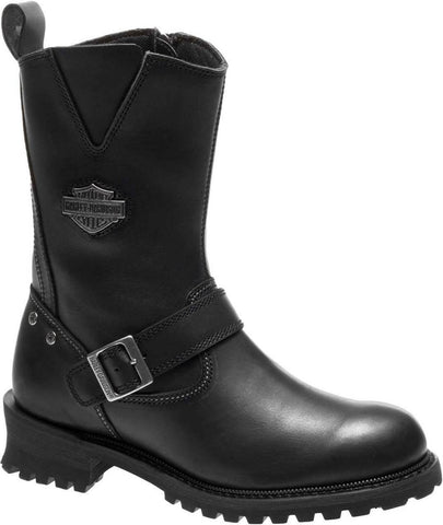 Harley-Davidson Men's Bladen 9-Inch Black Leather Motorcycle Boots D96155