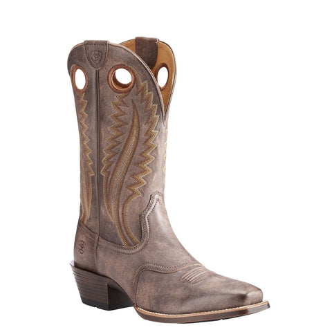 Ariat® Men's High Desert Tack Room Chocolate Square Toe Boots 10023172 - Wild West Boot Store