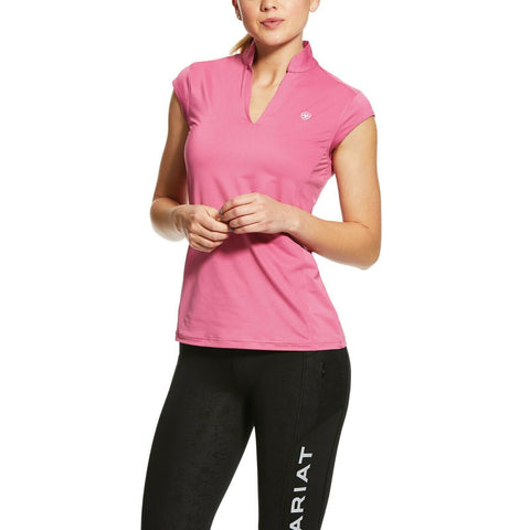 Ariat® Ladies Sunstopper 2.0 Pink Cap Sleeve Baselayer Shirt 10030463