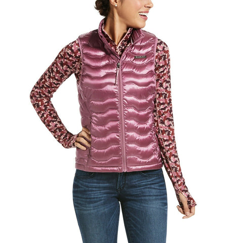 Ariat Ladies Ideal 3.0 Down Insulated Rose Cocoa Quilted Vest 10032640