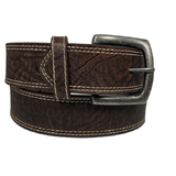 Twisted X Mens Dark Brown Elephant Stamped Leather Belts XWF-21
