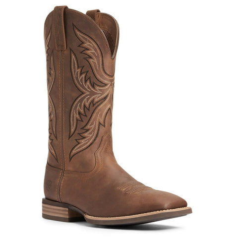 Ariat Men's Distressed Brown Everlite Fast Time Western Boot 10033908