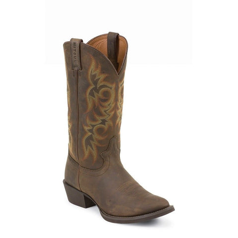 JUSTIN Men's New Stampede Huck Brown Boots 2551
