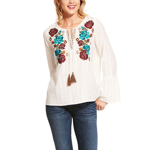 Ariat® Ladies White Reflections Floral Embroidered Tunic 10028775