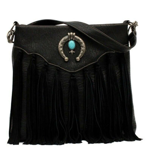 Blazin RoXX Black Leather Concealed Carry Purse N7543101