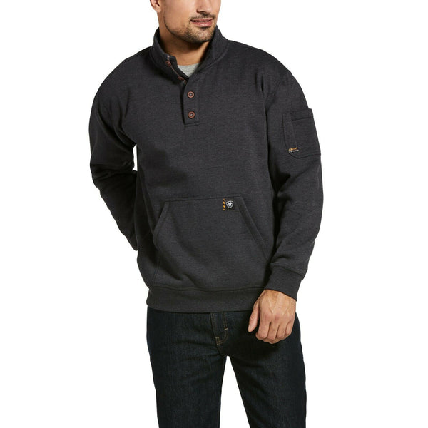 Ariat® Men's Rebar Overtime Fleece Charcoal Heather Sweater 10032974
