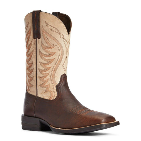 Ariat Men's AMOS Barley Brown & Tan Western Boots 10034045