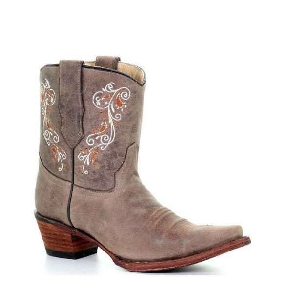Circle G by Corral Ladies Brown & White Embroidery Boots L5459