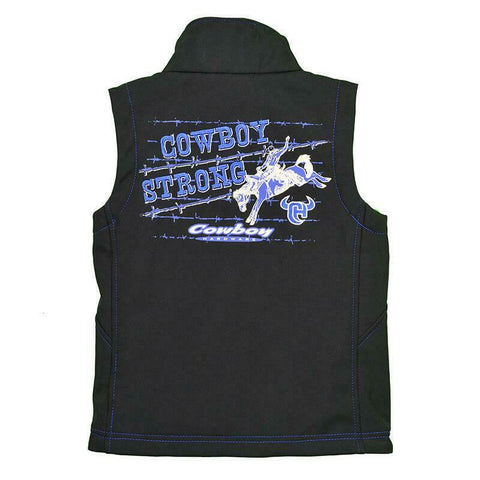 Cowboy Hardware Boys Strong Poly Shell Black Vest 387103-010