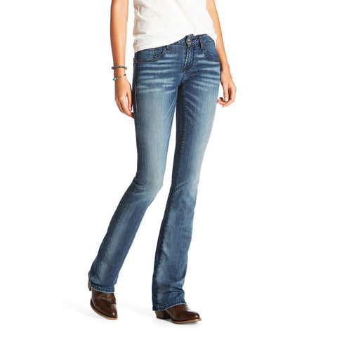 Ariat® Ladies Ultra Stretch Satin Stitch Demi Boot Cut Jeans 10020825 - Wild West Boot Store