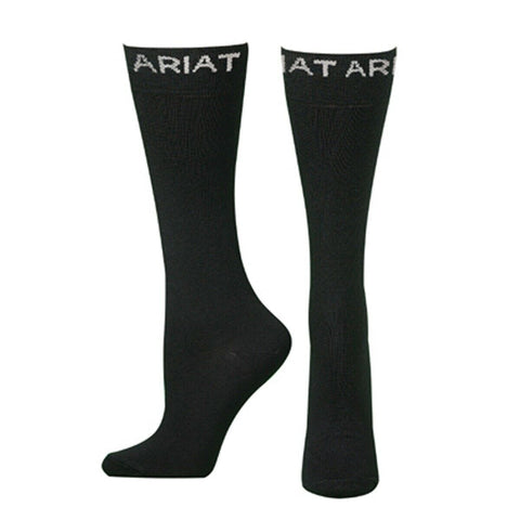 Ariat Men's Black Mid-Calf Thin Boot Socks A2501801
