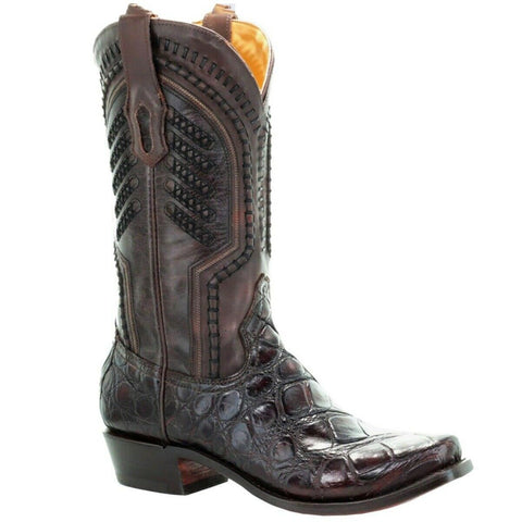 Corral Men's Chocolate Genuine Alligator Skin Boots A3474