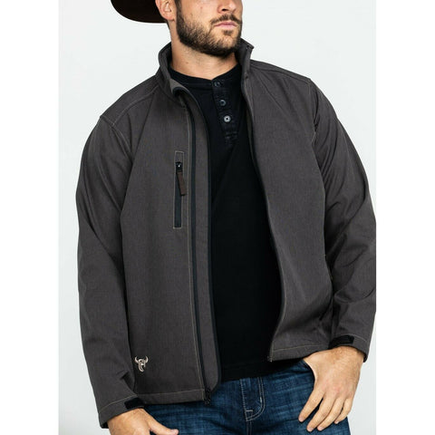Cowboy Hardware Men's Barbed Line Poly-Shell Brown Jacket 192097-664
