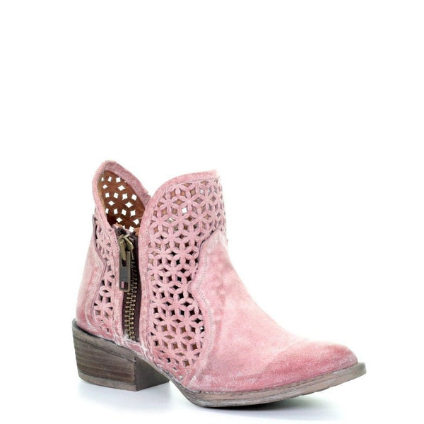 Circle G by Corral Ladies Pink Cutout Shortie Boots Q5062 - Wild West Boot Store