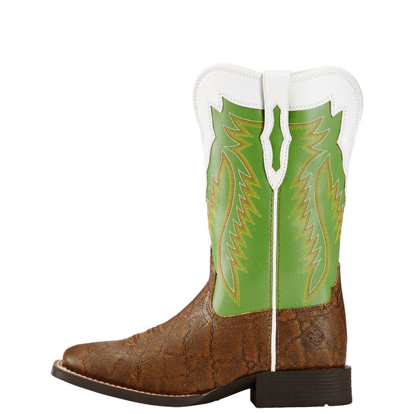 Ariat Children's Buscadero Green & Brown Elephant Print Boots 10018636 - Wild West Boot Store