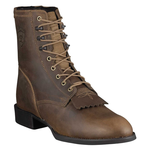 Ariat® Men's Heritage Lacer Kiltie Distressed Brown Boots 10001988 - Wild West Boot Store