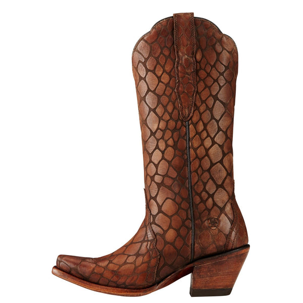 Ariat® Ladies Antebellum Naturally Brown Snake Print Boots 10019973 - Wild West Boot Store