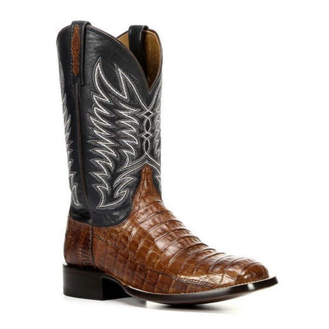 Lucchese Men's Logan Sienna Caiman Belly Tail Blue Western Boot M2664 - Wild West Boot Store - 1