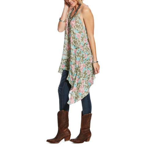 Ariat® Ladies Petal Camo Floral Cascading A-Line Tank Top 10025472 - Wild West Boot Store