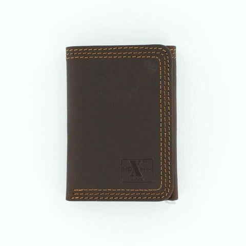 HD Xtreme Mens Work Brown Leather Trifold Wallet N6310802