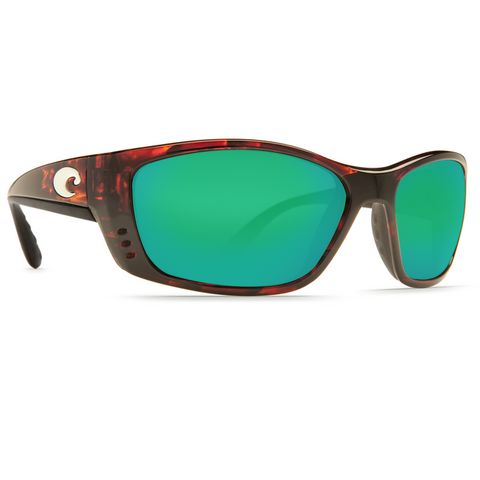 Costa Fisch Tortoise Frame with Green Glass Lens Sunglasses FS-10-OGMGLP