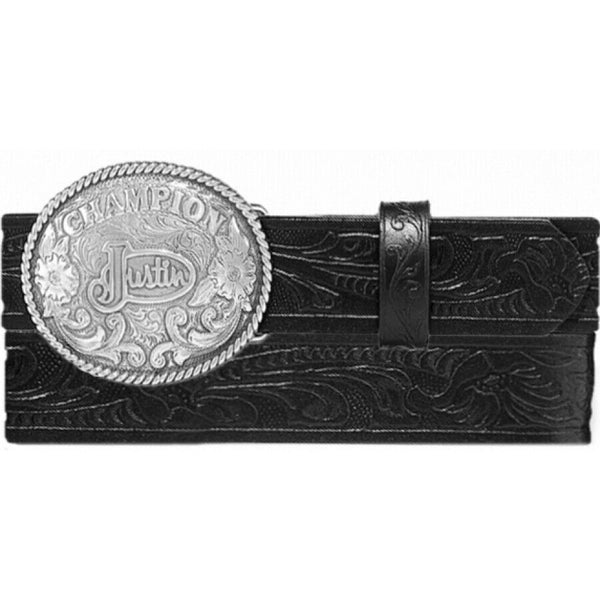 Justin Children's Champion Black Tooled Belt 811BK