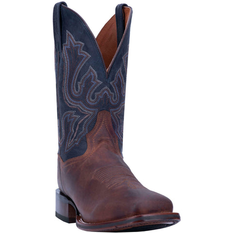 Dan Post Men's Winslow Brown & Blue Square Toe Western Boots DP4556