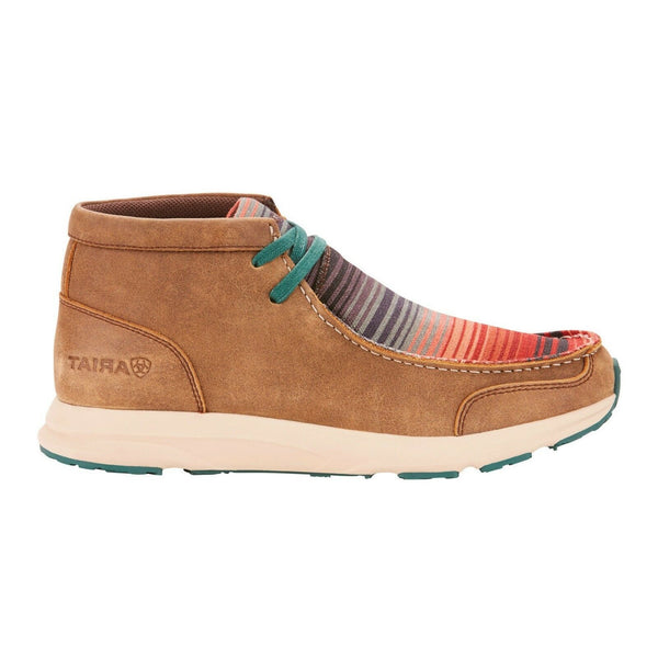 Ariat® Ladies Spitfire Brown Bomber Serape Lace-up Shoes 10025953 - Wild West Boot Store
