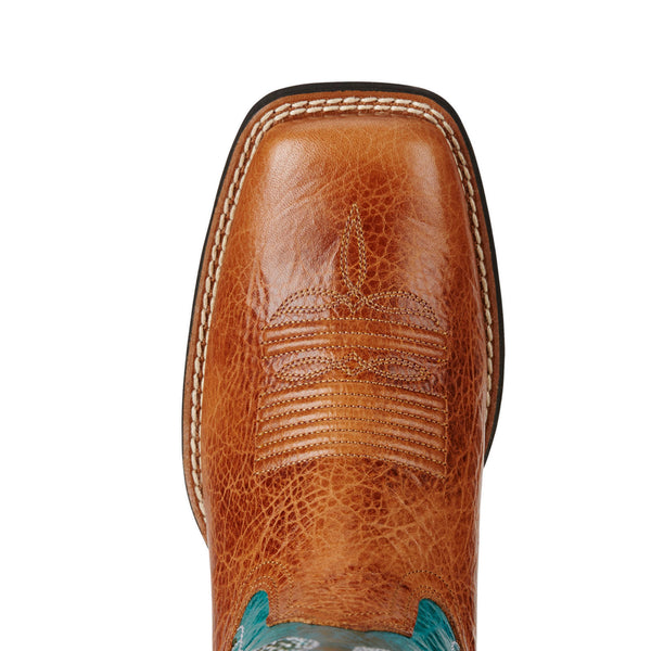 Ariat® Ladies Quickdraw VentTEK Gingersnap & Turquoise Boots 10019903 - Wild West Boot Store