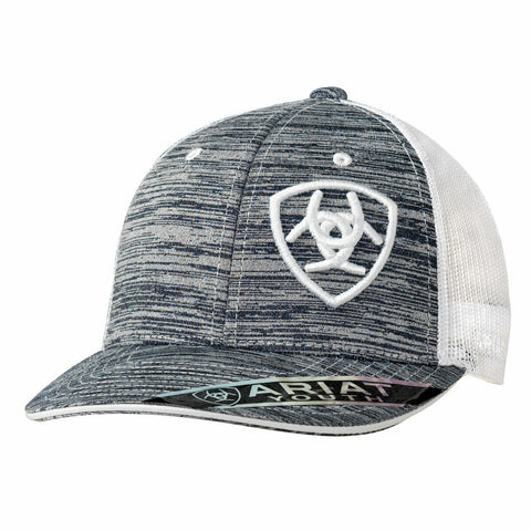 Ariat Youth Unisex Heather Grey Offset Logo Snapback Ball Cap 1517705