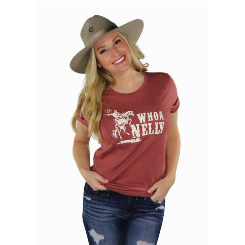 Ali-Dee Ladies Whoa Nelly Rust Graphic Tee