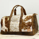 American Darling Brown Cowhide with Gold Duffel Bag ADBGS174DACGO