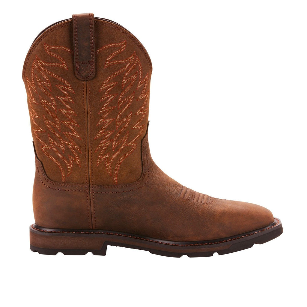 pretty cool official site new list Ariat® Men's Groundbreaker H20 Square Toe Brown Work Boots ...