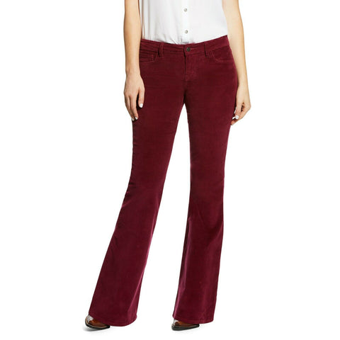 Ariat® Ladies Corduroy Flare Wild Berry Purple Jeans 10032468