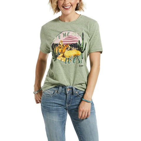 Ariat® Ladies Heather Green Take Me Out T- Shirt 10032817