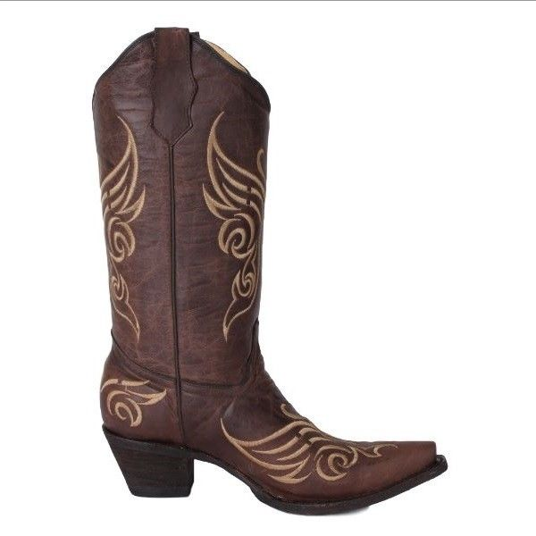 Circle G by Corral Ladies Tobacco Butterfly Embroidery Boot L5004 - Wild West Boot Store