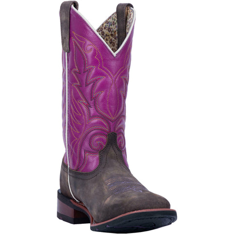 Laredo Ladies Kinleigh Disressed Brown & Purple Boots 5609